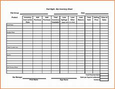 Inventory Form Excel 10 Sample Bar Inventory Spreadsheet Excel Spreadsheets