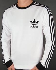 adidas sleeve shirt adidas originals clfn sleeve t shirt white trefoil