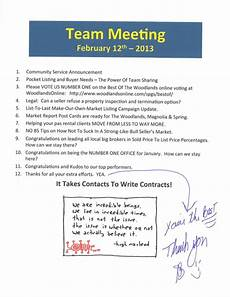 Marketing Meeting Agenda Team Meeting Agenda Notes Better Homes And Gardens Real