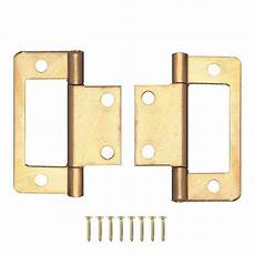 pair of brass flush inset cabinet door hinges door