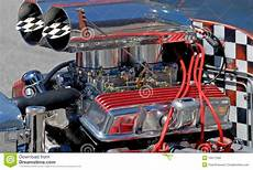 custom hot rod car engine editorial image