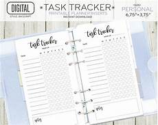 Personal Task Tracker Personal Size Task Tracker Planner Insert Daily Routine