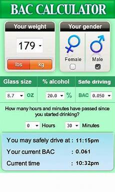 Blood Alcohol Calculator Bac Amazon Ca Appstore For