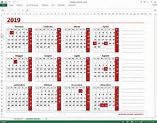 Calendario 2020 Xls Calendario Excel Annuale Da Scaricare Gratis