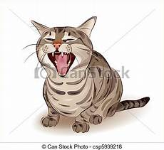 gatto clipart vector of yelling tabby cat csp5939218 search clip