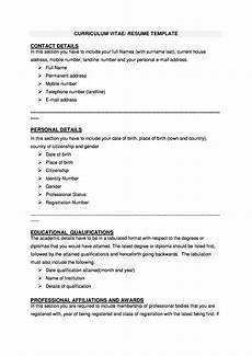 Curriculum Vitae Layout Template 48 Great Curriculum Vitae Templates Amp Examples ᐅ Templatelab