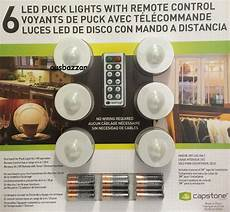 Capstone Led Puck Lights 6 Pack With Remote Control New Capstone Lightmates Led Wireless Puck Lights With