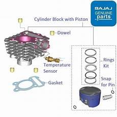Light Cylinder Pulsar Bajaj Pulsar As150 Cylinder Block