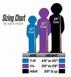 Pool Stick Size Chart Mcdermott Youth Pool Cues Kids Pool Sticks