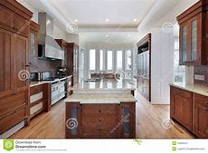 Kitchenn With Recessed Ceiling Royalty Free Stock Photo   Image: 12656415
