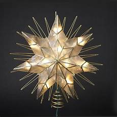 Large Light Up Star Tree Topper 10 5 Quot Lighted Led 8 Point Star Christmas Tree Topper