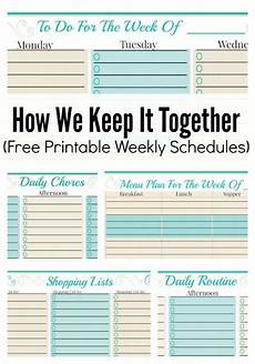 Family Schedule Organizer Free Weekly Planner Template To Do Checklist More Free