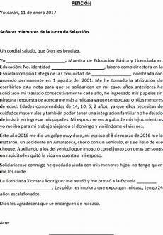 Ejemplos De Cartas De Peticion Carta De Petici 243 N Ejemplo De Carta Peticiones Cartas
