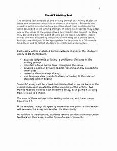 Example Essay Prompts Act Writing Prompts Utica