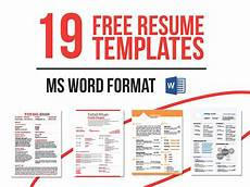 Work Templates Free 19 Free Resume Templates Download Now In Ms Word On Behance