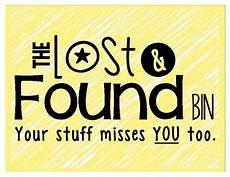 Lost And Found Sign Lost And Found Sign Colorful And Black And White
