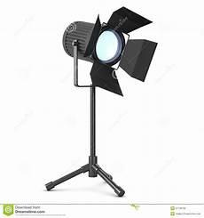 Film Light Stands 3d Studio Light On Stand Stock Illustration Illustration