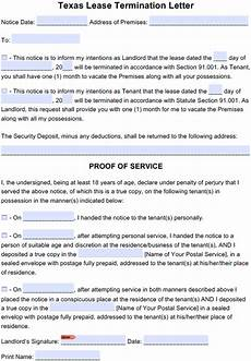 Texas Notice To Vacate Form Free Texas 30 Day Notice To Quit Month To Month Tenancy