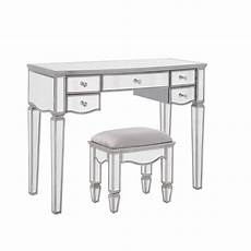 elysee 5 drawer mirrored glass dressing table ely5dtmir