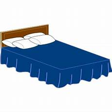 blue bed png svg clip for web clip