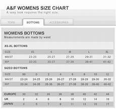 Moschino Mens Size Chart Abercrombie And Fitch Womens Size Chart Jeans Hub