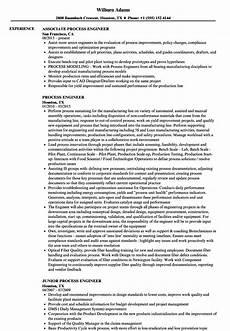 Process Engineering Resumes Process Engineer Resume Samples Velvet Jobs