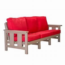 durawood seating sofa with sunbrella cushions