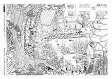Malvorlagen Tiere Und Natur Natur Garten Tiere Wimmelbild Berninger Wimmelbild