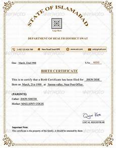 Sample Birth Certificate Pdf Birth Certificate Template 38 Word Pdf Psd Ai