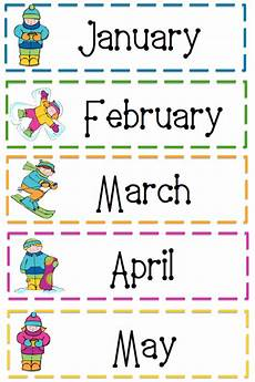 Printable Month 7 Best Images Of Printable Months Of Year Cards Free