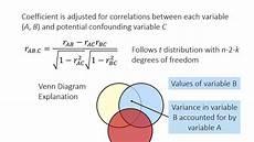 Partial And Semipartial Correlation Venn Diagram Partial And Semipartial Correlation Youtube