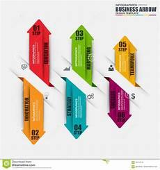 Infographic Arrow Infographic Arrow Step Vector Design Template Stock Vector