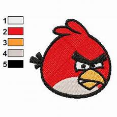 Angry Bird Designs Coloured Angry Birds Embroidery Design
