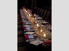 corporate dinner set up 'harry potter' style   photo Kelly