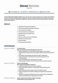 External Auditor Resume Auditor Resume Example Cv Sample Guide 2020 Resumekraft
