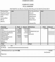 Basic Payslip Template Excel Download Top 14 Free Payslip Templates Word Excel Templates