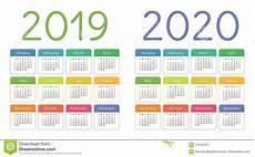 Basic Calendar 2020 Calendar 2019 2020 Years Colorful Calender Set Week