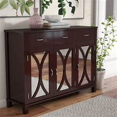 winston porter clemmons 3 door mirrored accent cabinet