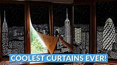 Blackout Design City Landscape Blackout Curtains Hole Cut Design Youtube