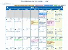 November 2020 Calendar With Indian Holidays Print Friendly May 2020 India Calendar For Printing