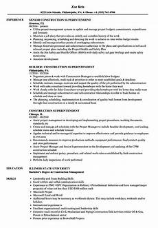 Resume Building Sites Sample Of Construction Resume