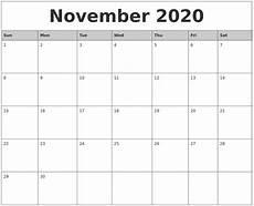 November 2020 Calendar Printable Free October 2020 Calanders