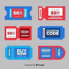 Coupon Downloads Colorful Coupon Template With Flat Design Vector Free