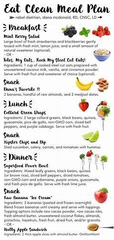meal planning eat clean clean meal plan clean eating