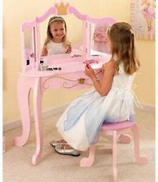 kidkraft pink princess vanity mirror stool