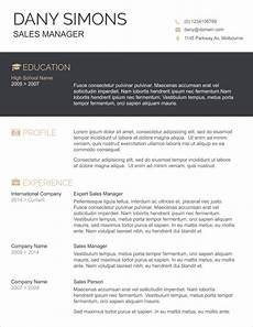 Resume Template Ms Word 2007 45 Free Modern Resume Cv Templates Minimalist Simple