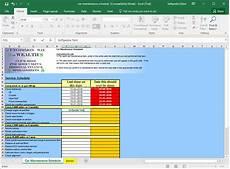 Car Maintenance Checklist Spreadsheet Download Car Maintenance Schedule Spreadsheet