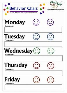 Behavior Clip Chart Template Behavior Chart Template Printable Behavior Charts