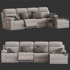 Small Chaise Sofa 3d Image by 3d 4 Seater Modular Sofa Chaise Model Turbosquid 1511735