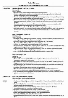 Sample Analyst Resumes It Systems Analyst Resume Samples Velvet Jobs